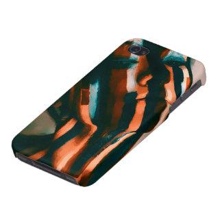 Funda Para iPhone 4/4S La señora pintada de los tigres y de las ondas