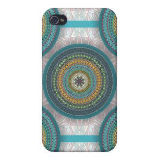 Funda Para iPhone 4/4S Modelo floral étnico abstracto colorido de la