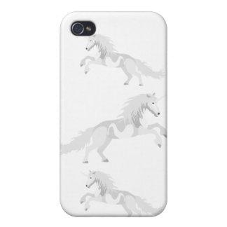 Funda Para iPhone 4/4S Unicornio del blanco del ejemplo