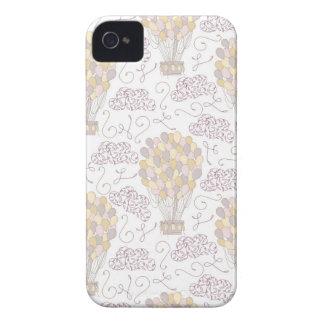 Funda Para iPhone 4 Amarillo y gris del globo del aire caliente del