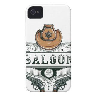 Funda Para iPhone 4 armas del vaquero del vintage del salón