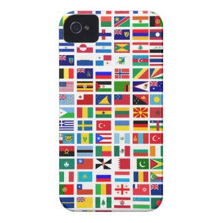 Funda Para iPhone 4 banderas del mundo contra blanco