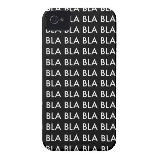 "Funda Para iPhone 4 Case iPHONE 4/4S ""BLA BLA BLA"""