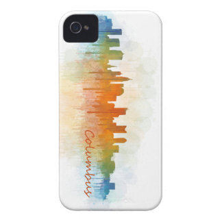 Funda Para iPhone 4 Columbus Ohio, City Skyline, v3
