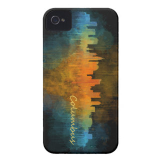 Funda Para iPhone 4 Columbus Ohio, City Skyline, v4