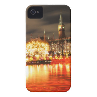 Funda Para iPhone 4 Copenhague, Dinamarca en el navidad