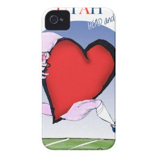 Funda Para iPhone 4 corazón principal de Utah, fernandes tony