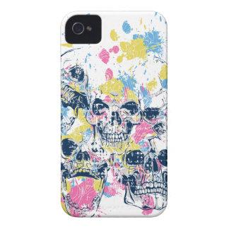 Funda Para iPhone 4 cráneos coloreados del vintage
