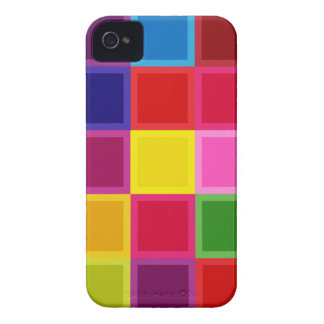 Funda Para iPhone 4 Cuadrados multi y rayas coloreados femeninos