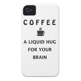 Funda Para iPhone 4 De Case-Mate Abrazo líquido del café para su cerebro
