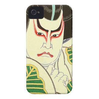 Funda Para iPhone 4 De Case-Mate Arte del actor de Kabuki del japonés por el 名取春仙