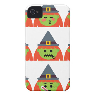Funda Para iPhone 4 De Case-Mate bruja todo el Emoji Halloween