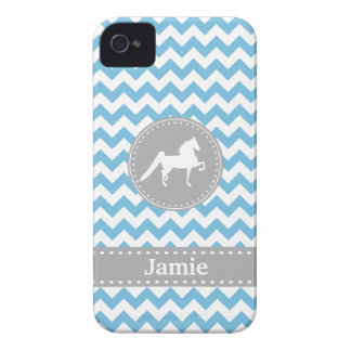 Funda Para iPhone 4 De Case-Mate Caja azul adaptable del iPhone 4/4S de Saddlebred
