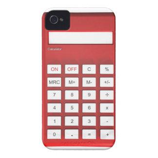 Funda Para iPhone 4 De Case-Mate Calculadora roja de la calculadora