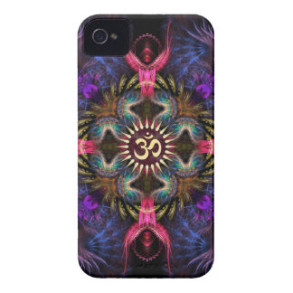 Funda Para iPhone 4 De Case-Mate Casamata del iPhone 4 de Aum del arte del fractal