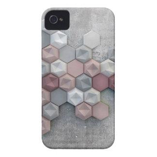 Funda Para iPhone 4 De Case-Mate Caso arquitectónico del iPhone 4 de los hexágonos