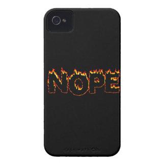 "Funda Para iPhone 4 De Case-Mate Caso del iPhone 4 de ""Nope"""