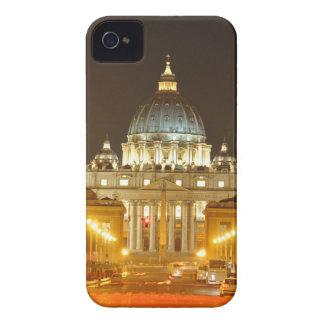 Funda Para iPhone 4 De Case-Mate Ciudad del Vaticano, Roma, Italia en la noche