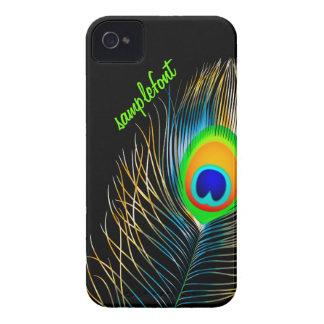 Funda Para iPhone 4 De Case-Mate Colores de fondo diy del penacho del pavo real de