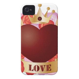 Funda Para iPhone 4 De Case-Mate Corazón del vuelo con la bandera y los rosas