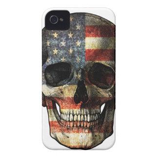 Funda Para iPhone 4 De Case-Mate Cráneo de la bandera americana