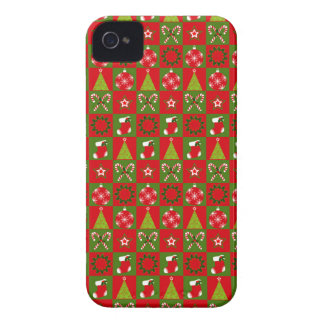 Funda Para iPhone 4 De Case-Mate Cuadrados decorativos del día de fiesta