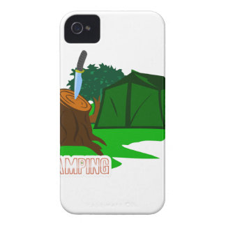 Funda Para iPhone 4 De Case-Mate Cuchillo y tienda que acampan
