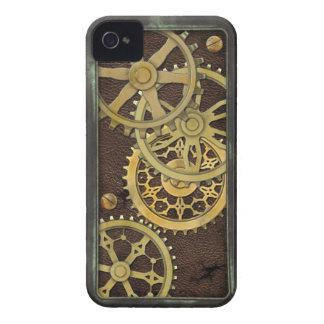 Funda Para iPhone 4 De Case-Mate Cuero y latón de Steampunk