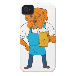 Funda Para iPhone 4 De Case-Mate Dibujo animado de la mascota de la taza del