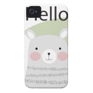 Funda Para iPhone 4 De Case-Mate Dibujo animado precioso feliz del oso de peluche