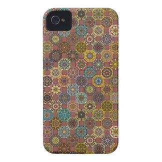 Funda Para iPhone 4 De Case-Mate Diseño abstracto colorido del modelo de la teja