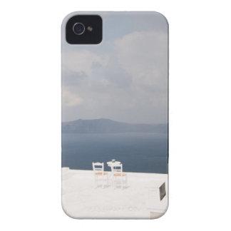 Funda Para iPhone 4 De Case-Mate Dos sillas en la isla de Santorini