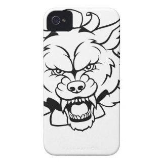 Funda Para iPhone 4 De Case-Mate El animal del lobo se divierte la mascota que