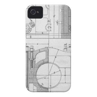 Funda Para iPhone 4 De Case-Mate El gráfico del mecánico industrial del vintage