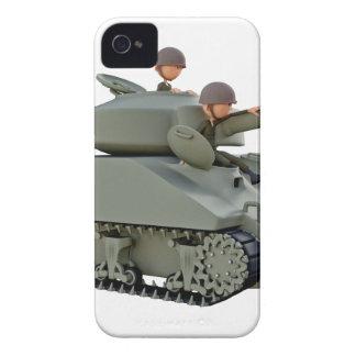 Funda Para iPhone 4 De Case-Mate El tanque y soldados del dibujo animado en la