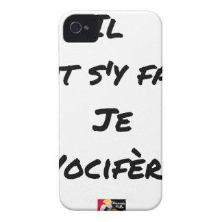 FUNDA PARA iPhone 4 DE Case-Mate ES NECESARIO HACERSE, VOCIFERO - JUEGOS DE