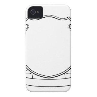 Funda Para iPhone 4 De Case-Mate Escudo heráldico del escudo de armas del escudo de