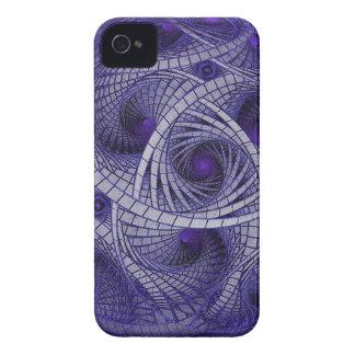 Funda Para iPhone 4 De Case-Mate Esfera azul abstracta de las ilustraciones de la