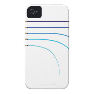 Funda Para iPhone 4 De Case-Mate Espacios en blanco curvados vector doblado de la