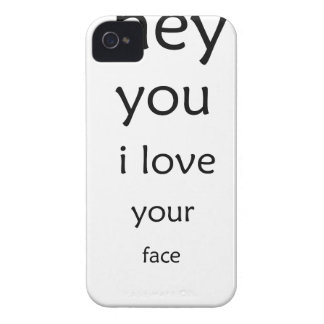 Funda Para iPhone 4 De Case-Mate ey usted amor de i su cara