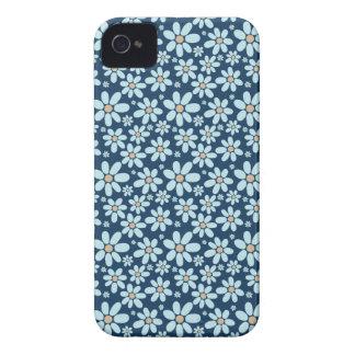 Funda Para iPhone 4 De Case-Mate Flores en azul marino