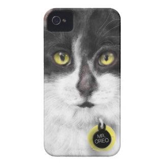 Funda Para iPhone 4 De Case-Mate Gato blanco y negro