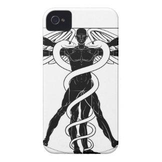 Funda Para iPhone 4 De Case-Mate Hombre de Vitruvian del caduceo