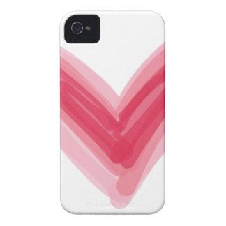 Funda Para iPhone 4 De Case-Mate Impresión rosada bonita del corazón, amor hermoso