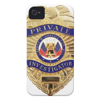 Funda Para iPhone 4 De Case-Mate Insignia del investigador privado