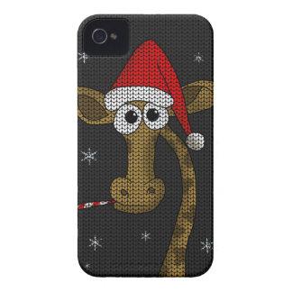 Funda Para iPhone 4 De Case-Mate Jirafa del navidad