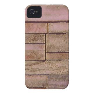 Funda Para iPhone 4 De Case-Mate Ladrillos apilados moreno polvoriento del rosa