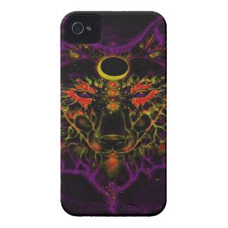 Funda Para iPhone 4 De Case-Mate Lobo púrpura de neón mítico
