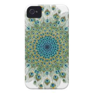 Funda Para iPhone 4 De Case-Mate Mandala colorida del pavo real masculino