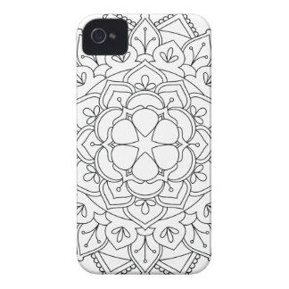 Funda Para iPhone 4 De Case-Mate Mandala floral 060517_1r de B&W